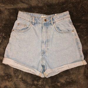 Zara High Waist Mom Fit Shorts